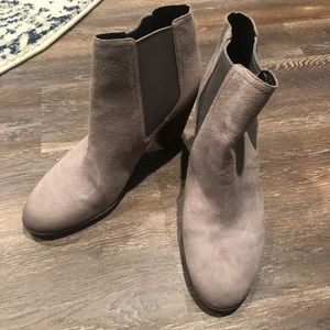 Cole Haan Signature Grey Suede Booties